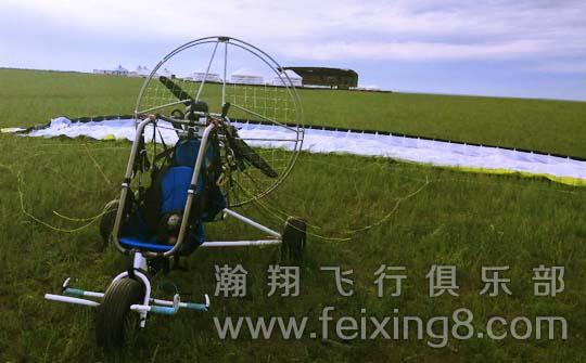 呼伦贝尔动力滑翔伞飞行装备-双人轮式动力伞