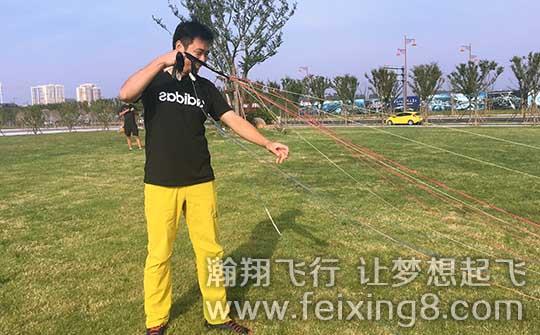在瀚翔飞行俱乐部参加学习的北京滑翔伞学员。