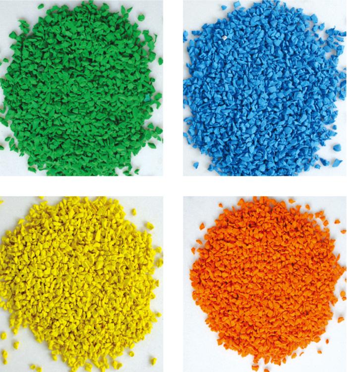 破碎粉末彩色素材