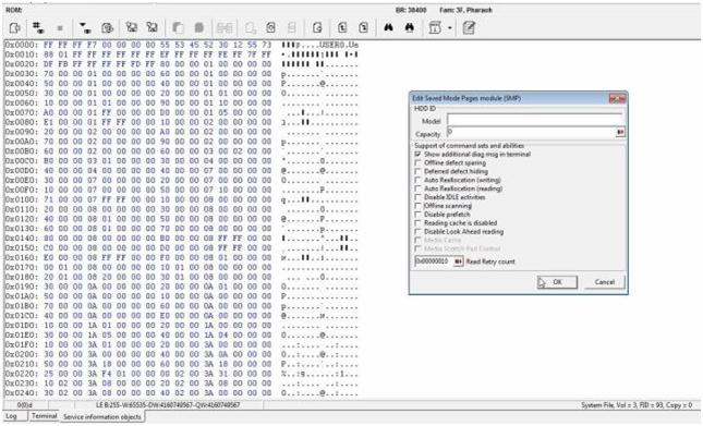 PC-3000用于HDD。希捷F3。修复Init SMART Fail错误的更简单方法 技术文章 第6张