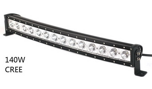 Single Row 30inch 140W Cree Curved LED Light Bar-Guangzhou