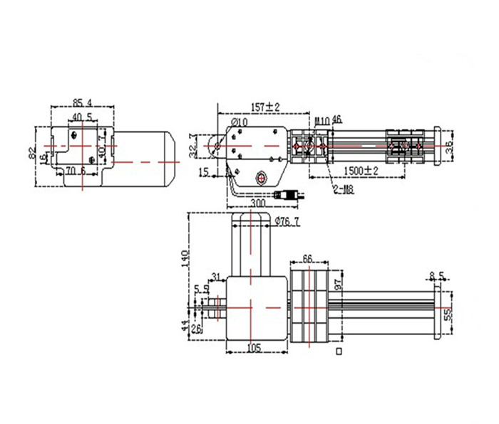 该系列直流电动推杆广泛应用于