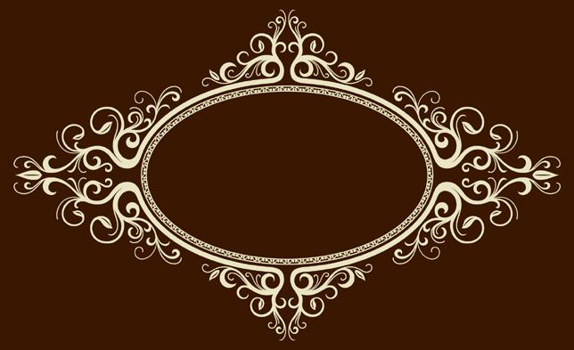椭圆形欧式边框矢量图下载