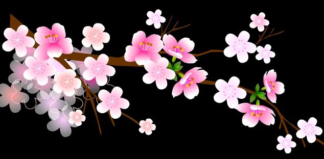 素材 flash 个性设计 梅花 透明 鲜花