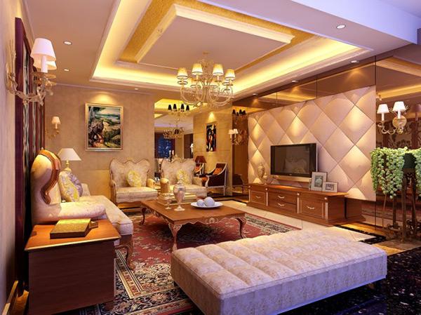 素材 3d 风景建筑 欧式简约客厅模型免费下载 3d模型 电视机 欧式家具