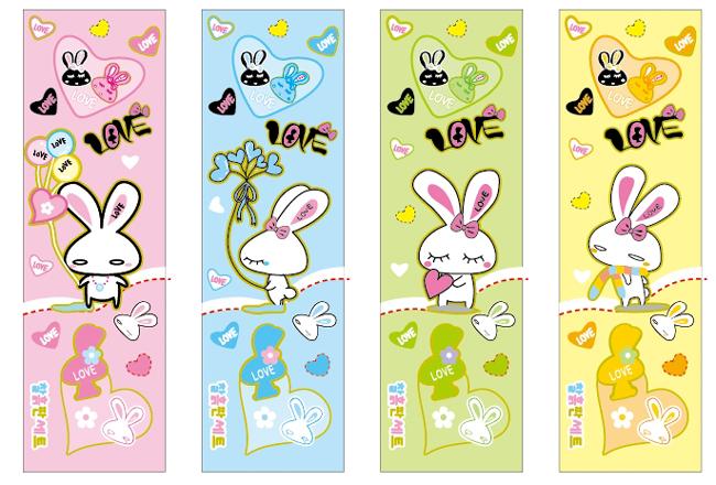 韩国可爱卡通兔子矢量图下载