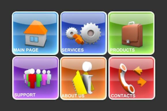 素材 flash 菜单按钮 3d模型 按钮素材 公文包 3d人物 电话筒