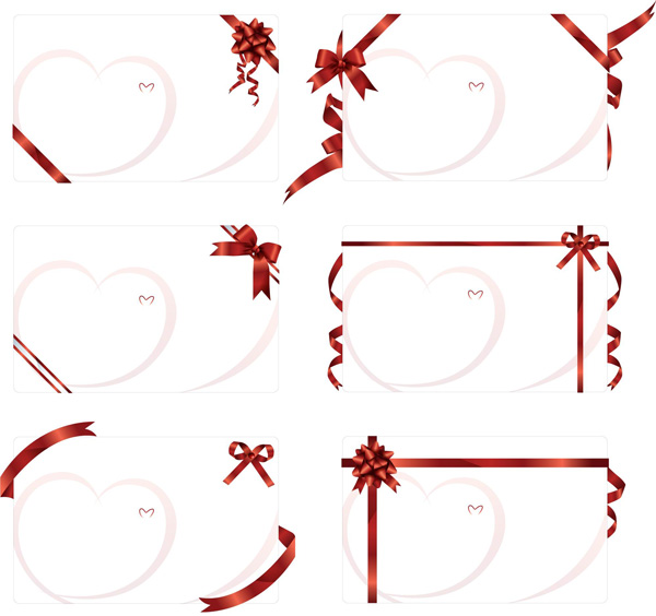 素材 矢量 边框 丝带 彩带 框架 情人节