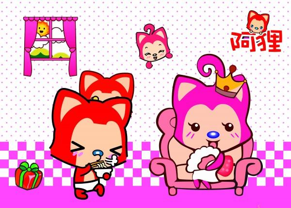 素材 psd 人物生活 阿狸 桃子 卡通形象 动漫人物 礼物 女王 窗户图片