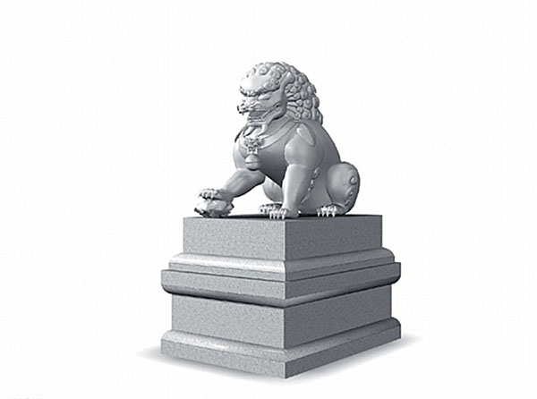 石狮子3d模型图片
