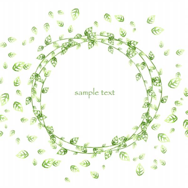 绿色叶子装饰边框psd设计