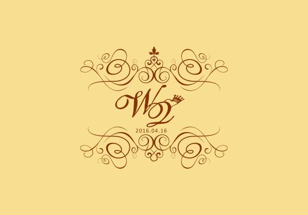 素材 psd 创意概念 婚庆请柬 婚礼logo 欧式婚礼logo 皇冠 创意字体