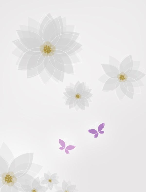 素材 psd 花纹边框 淡雅 花 简约花纹 装饰花纹 花纹背景 海报背景图