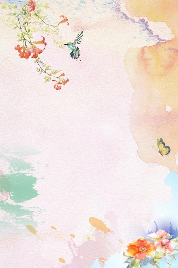 素材 psd 花纹边框 春季背景 粉色背景 花瓣背景 渐变背景 手绘背景