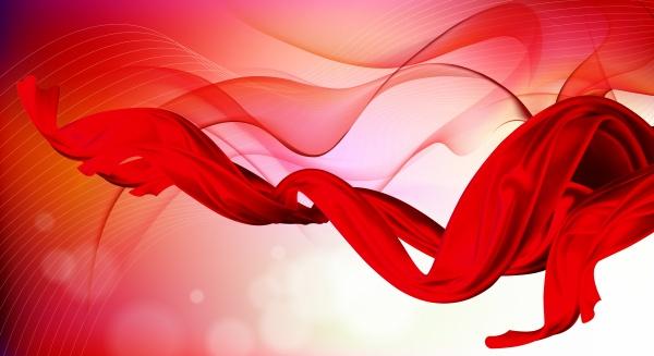 素材 psd 花纹边框 红绸 绸带 波纹 海报背景 底纹背景