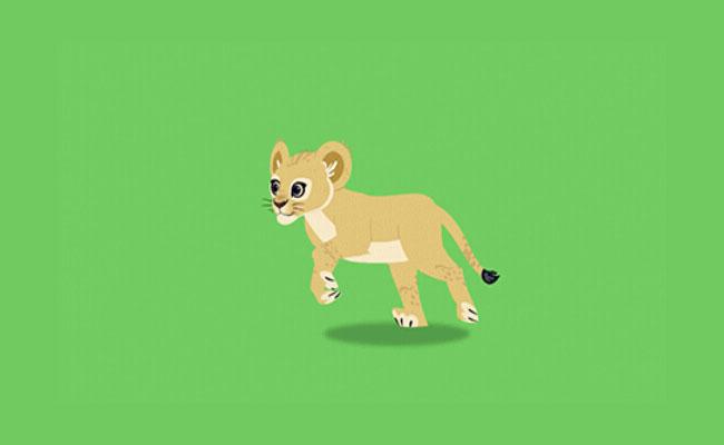 小豹子奔跑flash动画素材