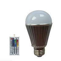 RGB led bulb with remote