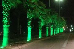 led underland lamp used for tree