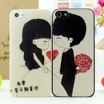 angibabe浪漫情侣系列苹果4s手机壳本着温馨浪漫的外形设计,可爱