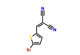 2-[(5-bromothiophen-2-yl)methylidene]propanedinitrile