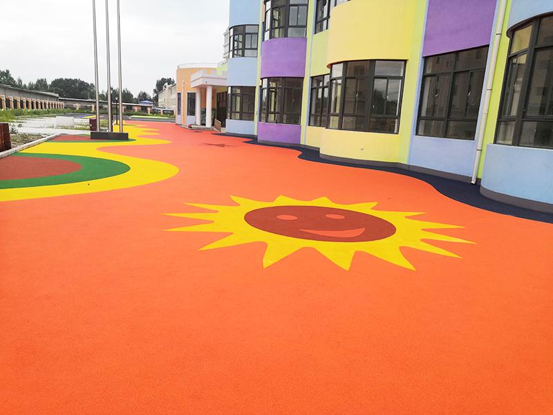 营口幼儿园塑胶操场施工