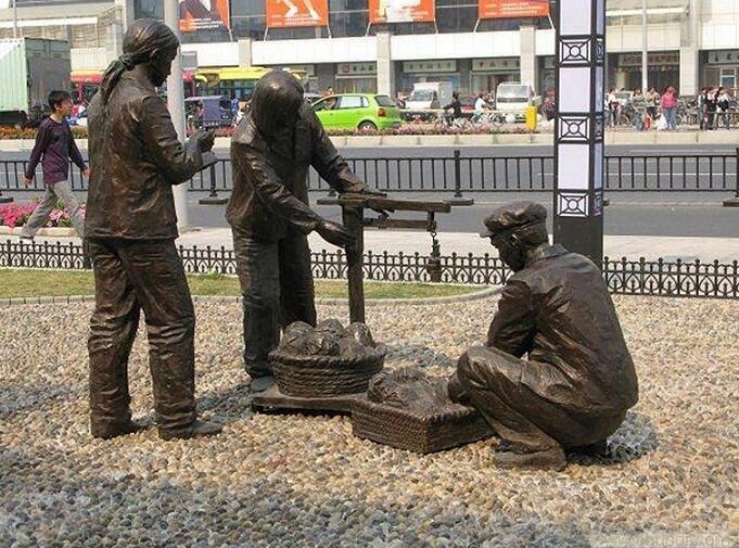 山东园林人物雕塑