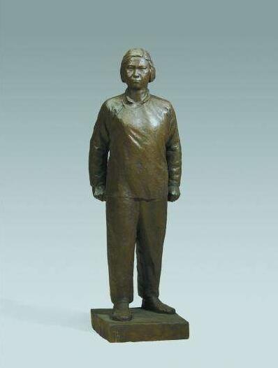 刘胡兰铜雕塑