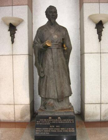 孙子铜雕像