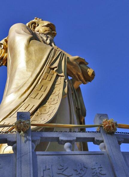 铸铜老子像-雕塑