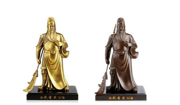 关羽铜雕塑