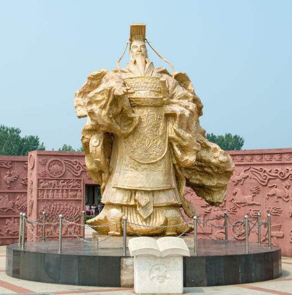 大型秦始皇铜雕塑