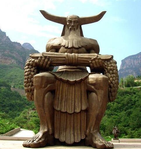 铸铜炎帝雕塑