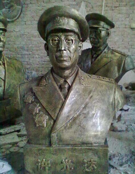 徐海东铜雕塑