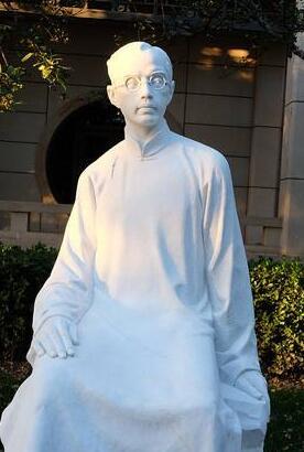 朱自清铜像