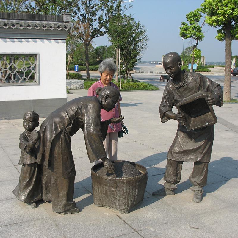东营人物铜雕塑