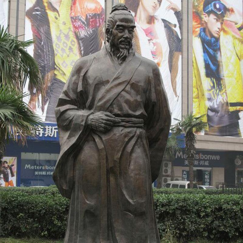淄博人物铜雕