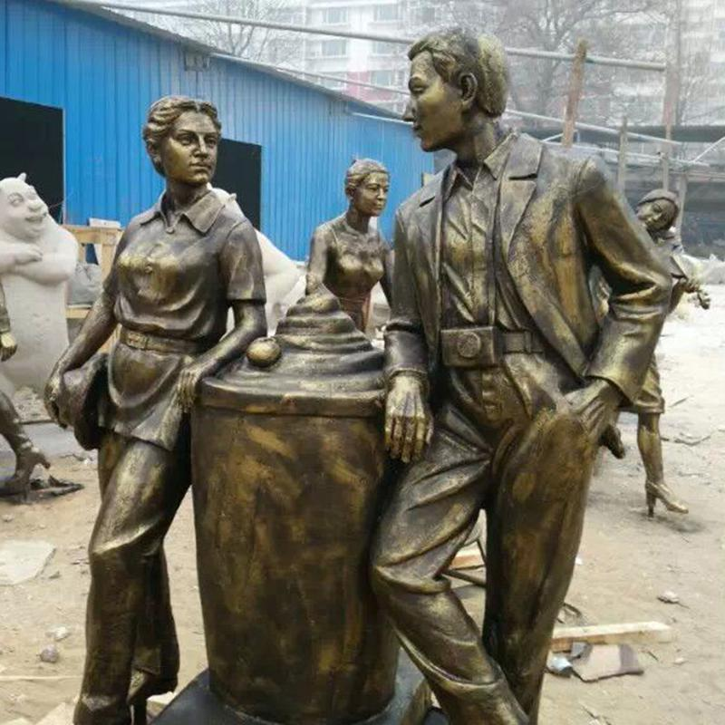 烟台人物铜雕