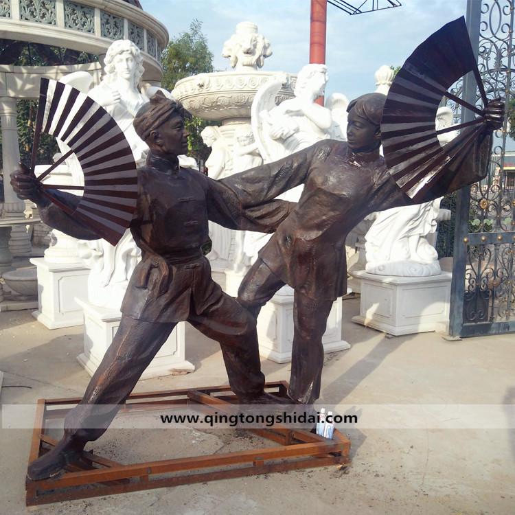 戏曲人物铜雕
