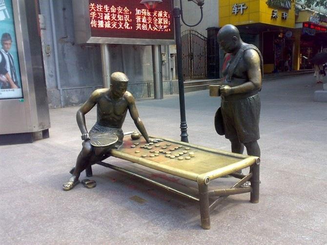 街头人物雕塑制作
