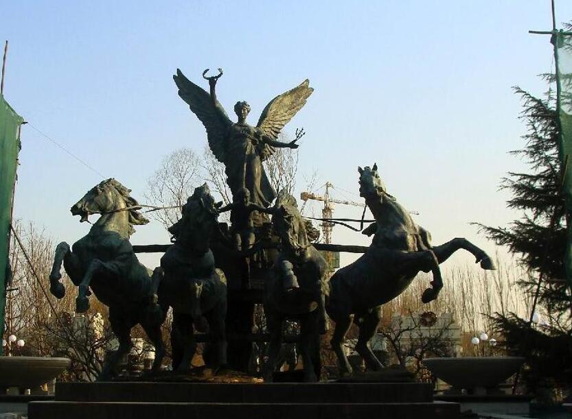 西方人物雕塑#阿波罗战车雕塑