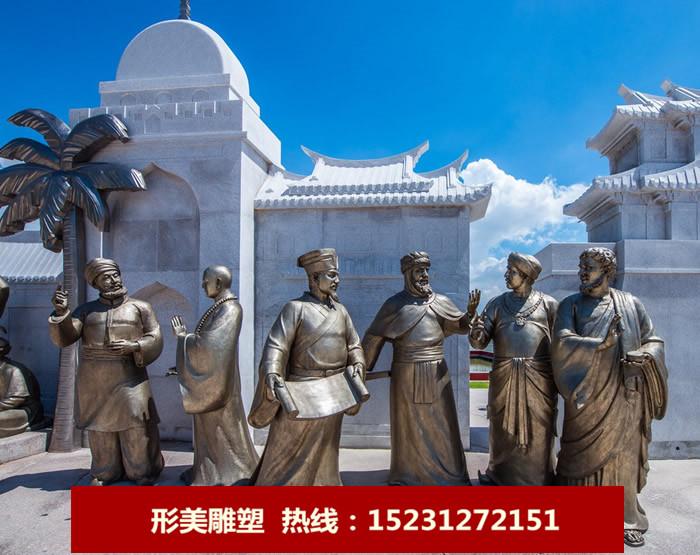 古代官员人物铜雕塑