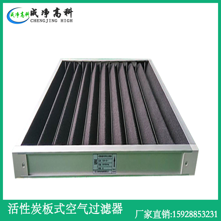 Carbon coarse efficiency air filter