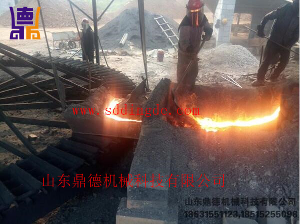 印尼生产中镍铁小高炉A small blast furnace in the production of nickel Indonesia