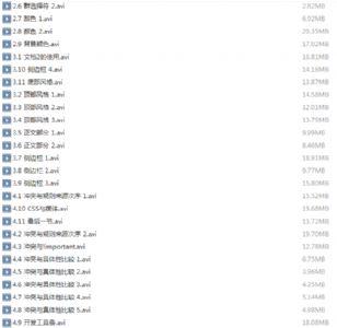 曹鹏CSS+DIV视频教程62集全 附下载地址!