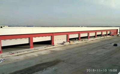 轨道式提升工业门结构