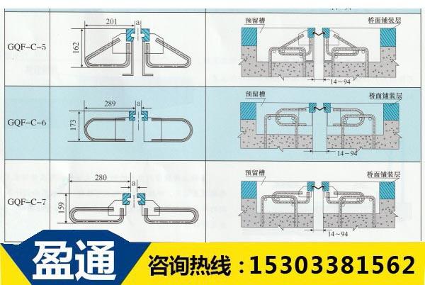 GQF-C型桥梁伸缩缝结构图