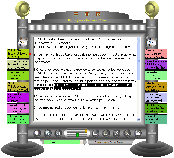 TTSUU - Text to Speech Universal Utility full screenshot