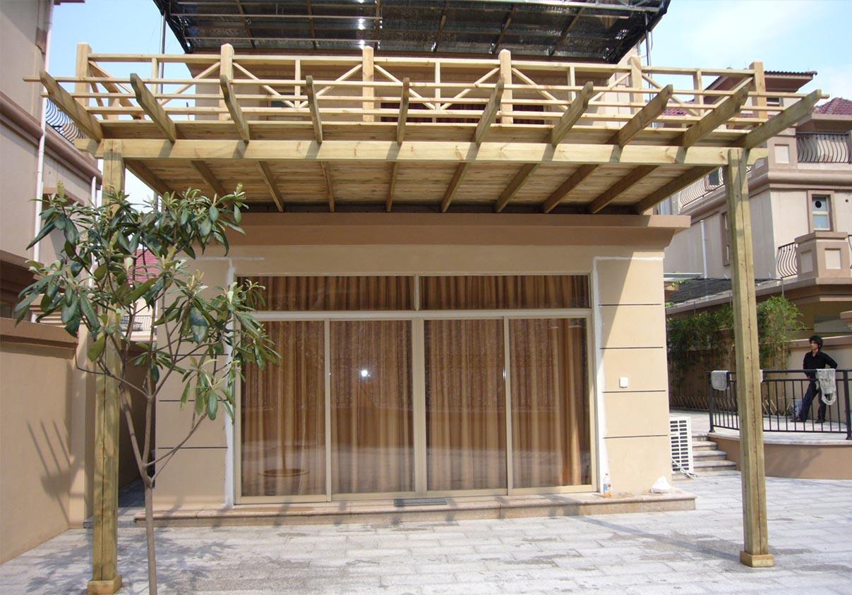 二层平台花架