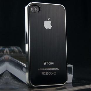 黑色金属手机壳