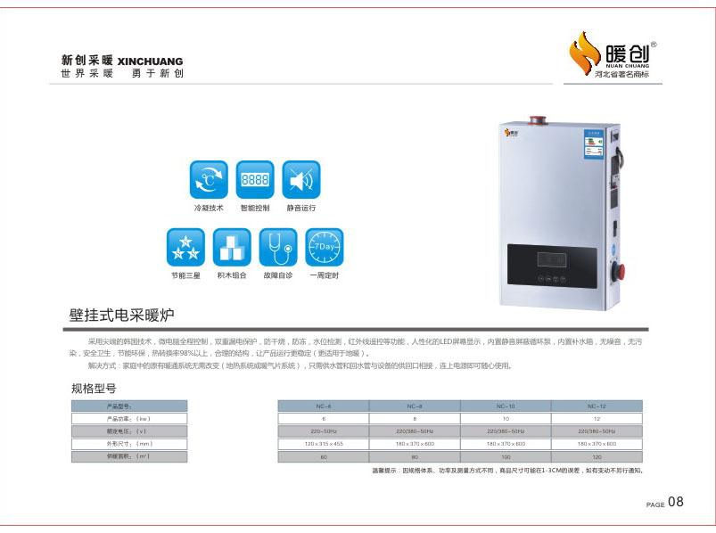 壁挂式电采暖炉效果
